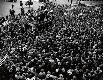 LEIPZIG, ARTHUR (1918-2014) T.W.U. (Transport Workers Union) Rally.