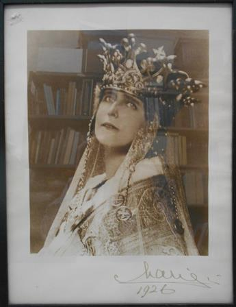 MARIE OF ROMANIA; QUEEN CONSORT TO FERDINAND I. Photograph dated and Signed, Marie, bust portrait by Guggenberger Mairovits,