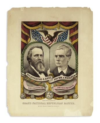 (PRESIDENTS--1876 CAMPAIGN.) Currier & Ives. Grand National Republican Banner.