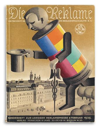 VARIOUS ARTISTS. DIE REKLAME. Group of 15 magazines. 1922-1925. Sizes vary, generally 12x9 inches, 30x24 cm.