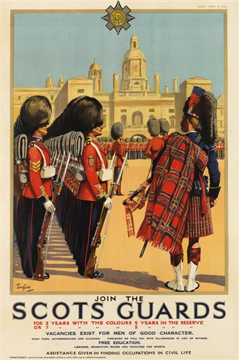 TOM CURR (1887-1958). JOIN THE SCOTS GUARDS. Circa 1925 29x19 inches, 75x50 cm. John Horn Ltd., London.