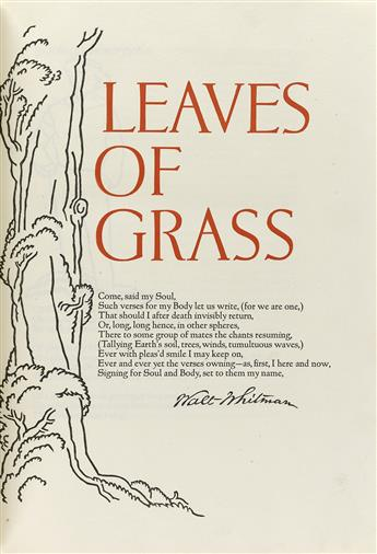 GRABHORN PRESS / WHITMAN, WALT. Leaves of Grass.