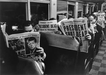 CARL MYDANS (1907-2004) On the 6:25 from Grand Central to Stamford, November 22, 1963 (Kennedy assassination).