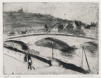CAMILLE PISSARRO Le Pont de Pierre, à Rouen.