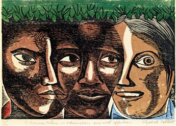 ELIZABETH CATLETT (1915 - 2012) Women of America (Unidad de la Mujer Americana).