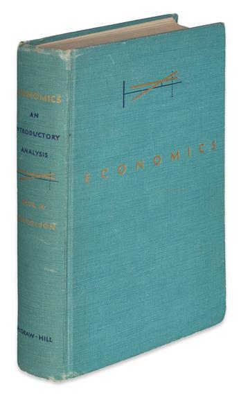 (ECONOMICS.) Samuelson, Paul A. Economics: An Introductory Analysis.