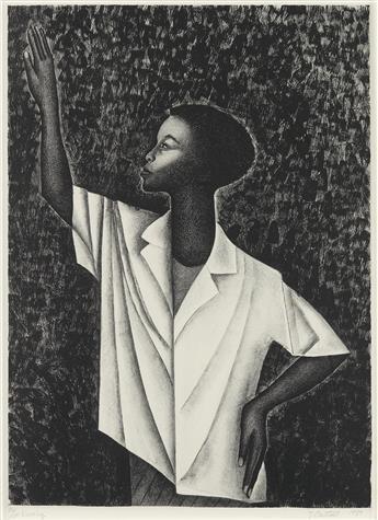 ELIZABETH CATLETT (1915 - 2012) Waving.