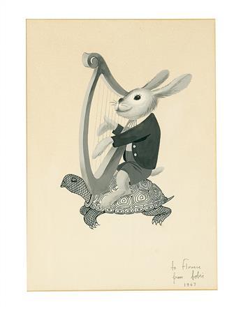 BOBRI. [Vladimir Bobritsky]. Turtle, hare & harp.