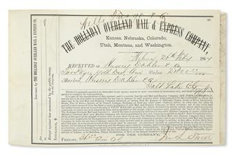 (UTAH.) Correspondence and shipping records of Hussey, Dahler & Co.