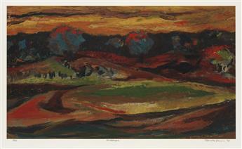 SAMELLA LEWIS (1924 -   ) Landscape.