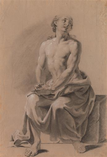 JACOPO ALESSANDRO CALVI (Bologna 1740-1815 Bologna) A Male Nude Study.