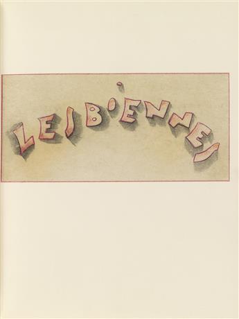 MARIETTE LYDIS (1887-1970)  Lesbiennes.