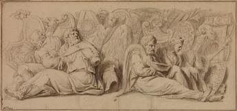 ERASMUS QUELLINUS II (ATTRIBUED TO) (Antwerp 1607-1678 Antwerp) A Roman Trophy Scene with Captives.