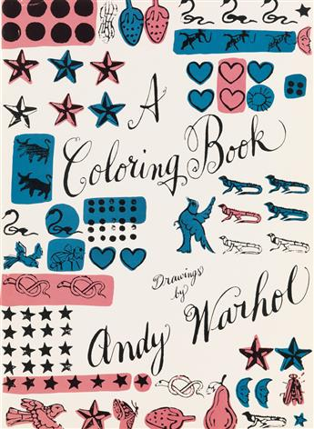 ANDY WARHOL (1928-1987). A COLORING BOOK. Two coloring books. 1990. Each 19x14 inches, 49x36 cm. Callaway Editions Inc., New York.