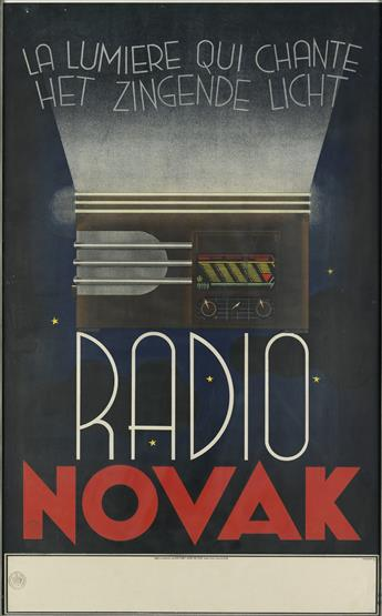 ALCOVER (DATES UNKNOWN). RADIO NOVAK. 1937. 39x24 inches, 99x61 cm. Jean De Vos, Foorest-Brux.
