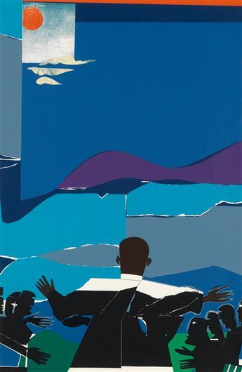ROMARE BEADEN (1911 - 1988) Martin Luther King, Jr. - Mountain Top.