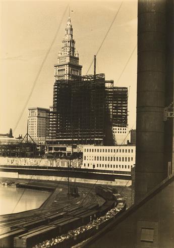 BOURKE-WHITE, MARGARET (1904-1971) Terminal Tower [Cleveland].