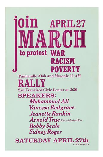 (CIVIL RIGHTS--KING, MARTIN LUTHER JR.) Join April 27 MARCH to protest War Racism Poverty. . .