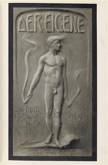 ADOLF BRAND (1874-1945) and KONRAD LINKE (DATES UNKNOWN).  Der Eigene: Ein Buch für Kunst und Mänliche Kultur. Vol VI.