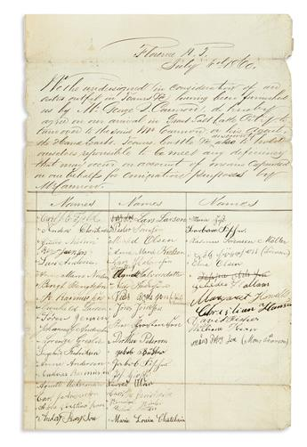 (MORMONS.) Group of documents relating to westward migration and the Perpetual Emigrating Fund.