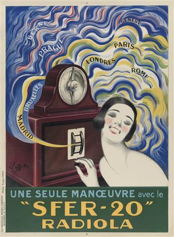 LEONETTO CAPPIELLO (1875-1942). 'SFER - 20' RADIOLA. 1925. 31x23 inches, 79x 58 cm. Devambez, Paris.