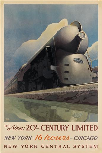 LESLIE RAGAN (1897-1972). THE NEW 20TH CENTURY LIMITED. 1939. 40x27 inches, 103x68 cm. Latham Litho Co., Long Island City.