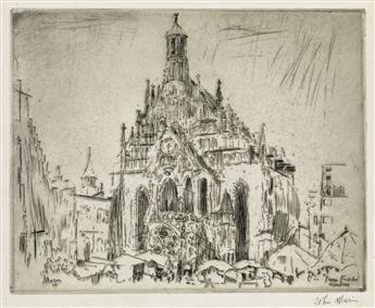 JOHN MARIN Marketplace, Frauen Kirche, Nuremberg.