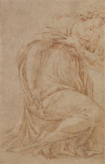 CENTRAL ITALIAN SCHOOL, 16TH CENTURY A Study of the Virgin Annunciate.