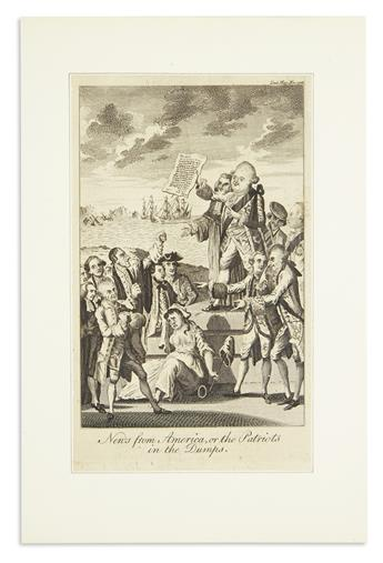 (AMERICAN REVOLUTION--1776.) News from America, or the Patriots in the Dumps.