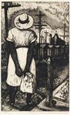 JOHN BIGGERS (1924 - 2001) Waiting.