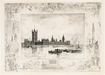 FÉLIX BUHOT Westminster Palace.