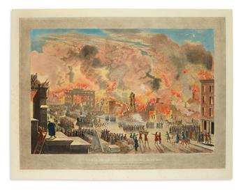 CALYO, NICOLINO; and BENNETT, WILLIAM JAMES. View of the Great Fire in New York, Decr. 16th & 17th 1835 /