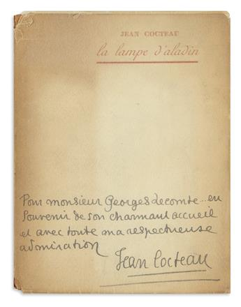 COCTEAU, JEAN. La Lampe dAladin. Poèmes.