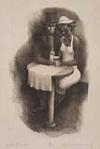 ROBERT BLACKBURN (1920 - 2003) Café Scene.