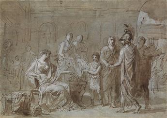 FRENCH SCHOOL, 18TH CENTURY A Roman Scene of Sacrifice.
