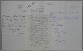 (WRITERS.) Group of 4 items Signed, or Signed and Inscribed, by 20th-century Americans.