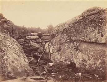 ALEXANDER GARDNER (1821-1882) Home of a Rebel Sharpshooter, Gettysburg.