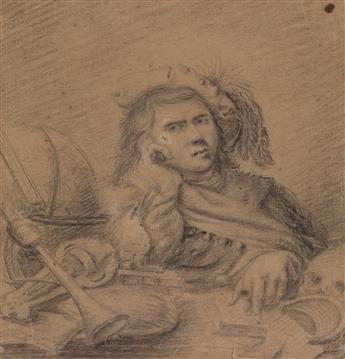 WILLEM VAN MIERIS (ATTRIBUTED TO) (Leiden 1662-1747 Leiden) Vanitas.