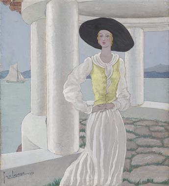 FASHION GEORGES LEPAPE. 'Sur la Terrasse.'