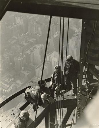 LEWIS W. HINE (1874-1940) Workers on girders, Empire State Building.
