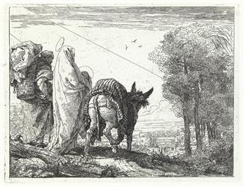 GIOVANNI D. TIEPOLO Maria col Bambino in Braccio e Giuseppe con la Gerla.