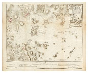 (AMERICAN REVOLUTION--BOSTON.) BEAURAIN, JEAN CHEVALIER de (after). Carte von dem Hafen und der Stadt Boston.