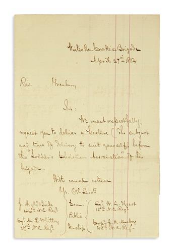 (CIVIL WAR--CONFEDERATE.) Correspondence of the Rev. William Gwynn Coe, a Methodist minister on Virginias occupied Eastern Shore.