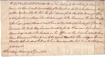 CLINTON, GEORGE. Autograph Letter, unsigned, written in the third person, as Governor, to Colonel Marinus Willett (Colo. Willett),