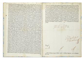 (PERU.) Felipe V, King of Spain. Sobre la forma en que se deben impedir los illicitos comercios en los Dominios del Perú.