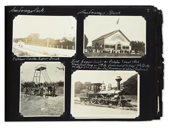 (CALIFORNIA.) Scrapbook of photographs of Oakland streetcars.