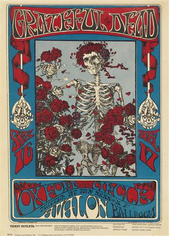 STANLEY MOUSE (1940- ). GRATEFUL DEAD / OXFORD CIRCLE. 1966. 19x14 inches, 50x35 cm. The Bindweed Press, San Francisco.