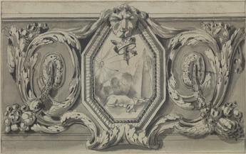 JEAN-CHARLES DELAFOSSE (Paris 1734-1791 Paris) A Study for a Wall Decoration.