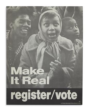 (CIVIL RIGHTS.) Pair of voting rights posters from A. Phillip Randolph Educational Fund.