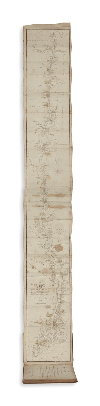 (NEW YORK.) [Vandewater, Robert J.] The Tourist, or Pocket Manual for Travellers on the Hudson River.
